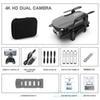 Schwarz 4K Doppelkamera + Tasche + 1 * Batterie