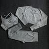 Conjunto de 3pcs gris oscuro