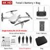 B Weiß 4K Dual Camera + 1800 mA Batterie