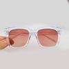 Clear frame gradient pink lenses