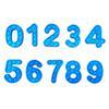 숫자 0-9 블루