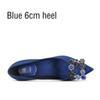 Blauer 6 cm Ferse