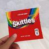 Saco de Skittles Vermelho