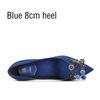 Blauer 8 cm Ferse
