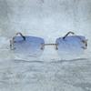 Kare gümüş mavi