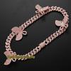 20inch rosa cadeia rosa borboleta