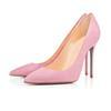 뾰족한 발가락 스웨이드 핑크