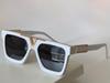 white gold framed gray lenses