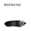 Schwarz 6 cm Ferse