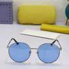 Silver frame + blue lenses