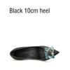 Schwarz 10 cm Ferse