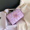Фиолетовая сумка на плечо