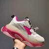 B21 36-40 Clear Sole White Pink