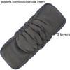 5pcs Charcoal Gusset