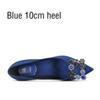 Blauer 10 cm Ferse