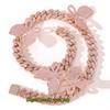 18inch cor-de-rosa cadeia rosa borboleta