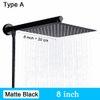 Type A - Noir mat de 8 pouces
