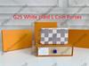 G25 White Plaid L عملة المحافظ