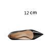 Schwarz 12 cm Ferse