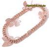 16inch cor-de-rosa cadeia rosa borboleta