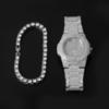 Silver Watch Braclt