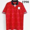 Camisa vermelha de 1990.