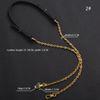Crochet d'argent de style noir 2-130cm