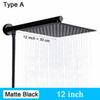 Type A - Mat Black 12 pouces