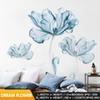 Flor-XL azul romántico