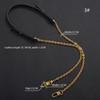 Crochet d'argent de style noir 3-130cm
