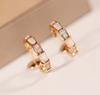 18k rosa orecchino d'oro