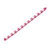 Cadena de 24 enlaces (blanco y rosa).