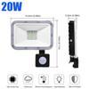 Holofotes de sensor PIR 20W