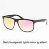gradiente de espelho transparente preto / rosa