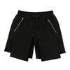 Shorts de fermeture à glissière noire