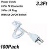 Anahtarsız 3.3Ft 3-Pin Güç Kabloları