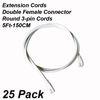 Accesorios: Cables de extensión 5 pies.