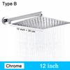 Type B - Chrome 12 pouces