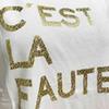 Letras de ouro branco