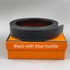 Pulsante blu + Banda nera