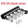 5/8-24 Schwarzer Silber