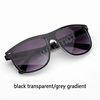 Gradiente preto transparente / cinza