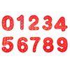 숫자 0-9 레드