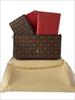 Клетчатый коричневый + красный карточный пакет