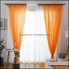 Orange Curtains