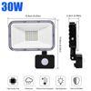 Floodlights do sensor PIR 30W
