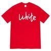 Vermelho + branco.