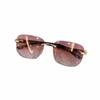 Gradient pink lenses
