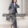 3 Stück grauer Anzug