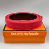 Pulsante rosso + Banda rossa